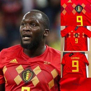 1139465e1 adidas Shirts - ⚽ Belgium Soccer Jersey Lukaku  9 2018 World Cup